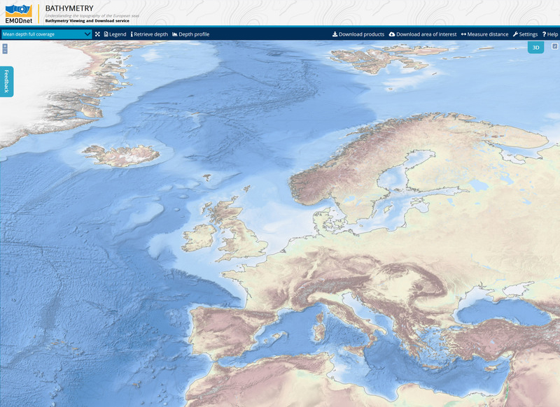 Emodnet bathymetry
